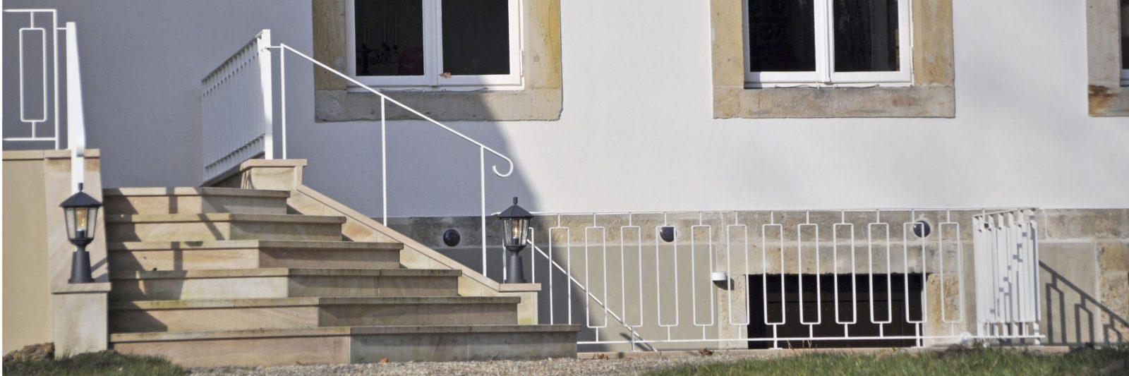 Feiern und Tagen im Denkmal -Terasse und Treppe